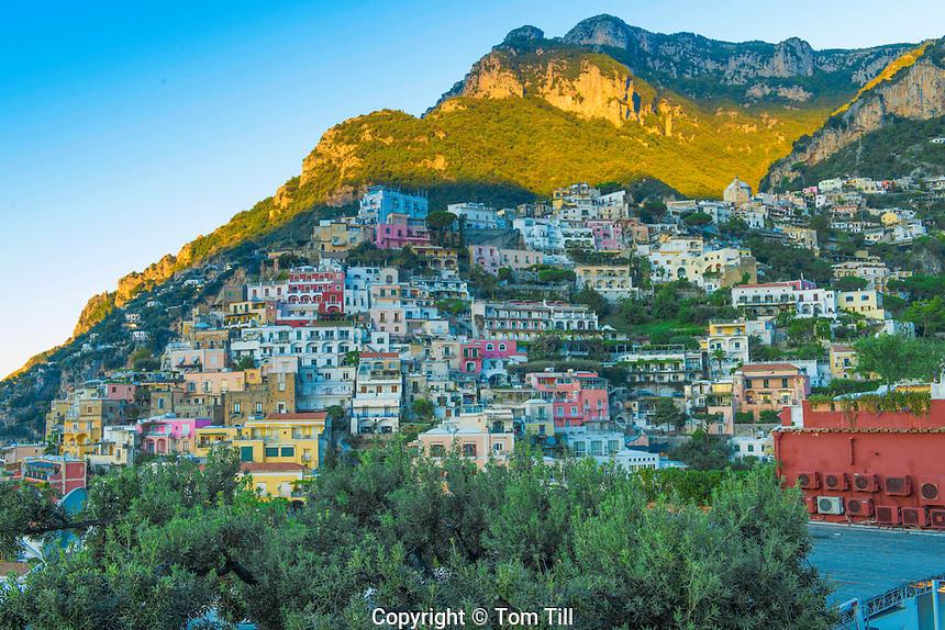 Positano,Amalfi Coast, Italy,Tyrrhenian Sea, Near Naples