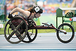 RIO DE JANEIRO - 8/9/2016:  Ilana Dupont after competing in the Women's 100m - T53 Round 1 Heat in the Olympic Stadium during the Rio 2016 Paralympic Games. (Photo by Matthew Murnaghan/Canadian Paralympic Committee