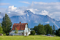 Barn in the Matanuska Valley, Palmer, southcentral, Alaska.