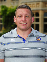 First team coach Toby Booth poses for a portrait at a Bath Rugby photocall. Bath Rugby Media Day on August 24, 2016 at Farleigh House in Bath, England. Photo by: Patrick Khachfe / Onside Images