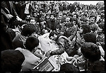 Mourners in Behesht e Zahra, Tehran's main cemetery during the funerals for those killed in 24 of Esfand Square the day before. December 28, 1978