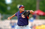 19 March 2006: Travis Hughes, pitcher for the Washington Nationals, on the mound during a Spring Training game against the Los Angeles Dodgers at Holeman Stadium, in Vero Beach, Florida. The Dodgers defeated the Nationals 9-1 in Grapefruit League play...Mandatory Photo Credit: Ed Wolfstein Photo..