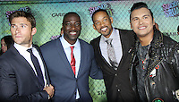 NEW YORK, NY-August 01`: Scott Eastwood, Will Smith, Adewale Akinnuoye-Agbaje, Adam Bearch at Warner Bros. Pictures & DC, Atlas Entertainment  presents the World Premiere of Suicide Squad  at the Beacon Theatre in New York. NY August 01, 2016. Credit:RW/MediaPunch