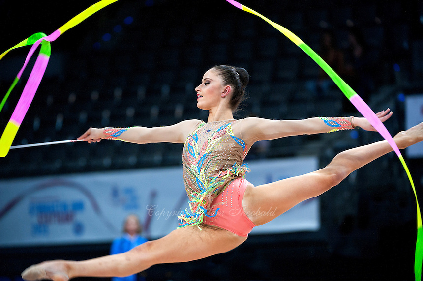 September 10, 2015 - Stuttgart, Germany - NEVIANA VLADINOVA of Bulgaria performs during AA qualifications at 2015 World Championships.
