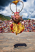 Bhutan,Thimpu, Cham, Tsechu, monk, performer, actor, traditional, character
