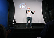 Photo By Jeyhoun Allebaugh. Carrboro. June 6th, 2008...Jeffrey Gray delivers his act at DSI Comedy Theater in Carrboro on Friday, June 6th, 2008.