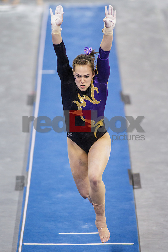 Megan Whitney-University of Washington Huskies gymnastics team takes on San Jose State University and Central Michigan at Alaska Airlines Arena in Seattle Mar. 9, 2012. (Photos by Andy Rogers/Red Box Pictures)