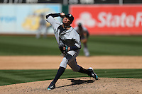 OAKLAND, CA - SEPTEMBER 10:  Felix Hernandez #34 of the Seattle Mariners pitches against the Oakland Athletics during the game at the Oakland Coliseum on Saturday, September 10, 2016 in Oakland, California. Photo by Brad Mangin