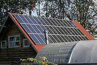 SOLAR ENERGY PANELS<br /> On Old Farm House<br /> Used to power an organic farm in Blairstown, New Jersey.