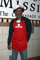 James Pickens Jr. at the LA Mission Thanksgivng Feeding of the Homeless in    Los Angeles, CA.November 26, 2008.©2008 Kathy Hutchins / Hutchins Photo....