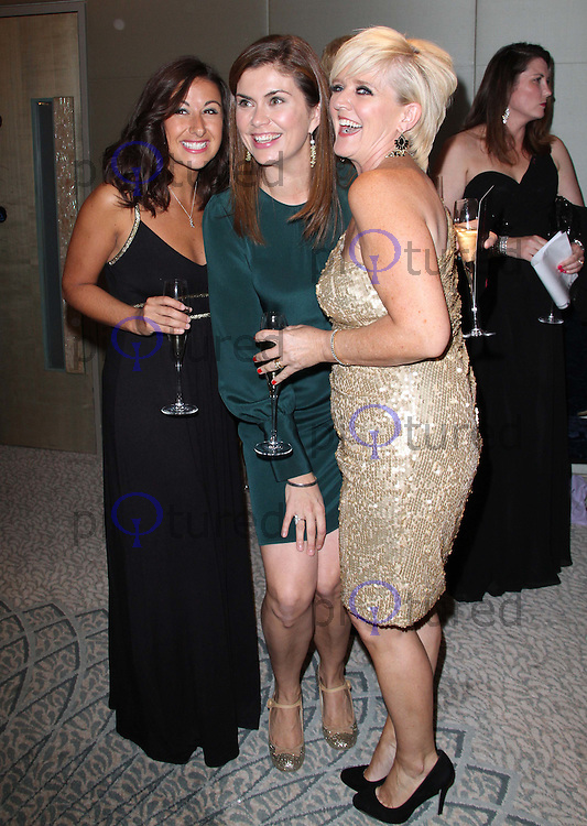 Hayley Tamaddon; Amanda Lamb; Bernie Nolan The Pink Ribbon Ball, Dorchester Hotel, London, UK. 08 October 2011. Contact: Rich@Piqtured.com +44(0)7941 079620 (Picture by Richard Goldschmidt)