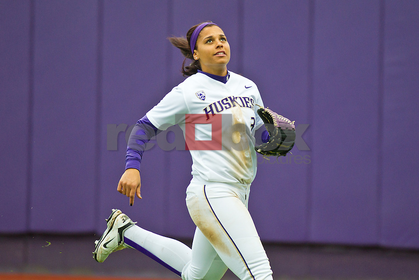 Nikia Williams..--------Washington Huskies softball team versus North Dakota at UW on Saturday, March 10, 2012. (Photo by Dan DeLong/Red Box Pictures)