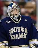 Steven Summerhays (Notre Dame - 1) - The University of Notre Dame Fighting Irish defeated the Merrimack College Warriors 4-3 in overtime in their NCAA Northeast Regional Semi-Final on Saturday, March 26, 2011, at Verizon Wireless Arena in Manchester, New Hampshire.