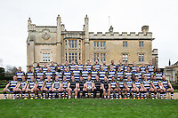 Bath Rugby players and coaches pose for a portrait at a Bath Rugby photocall. Bath Rugby Media Day on December 1, 2015 at Farleigh House in Bath, England. Photo by: Rogan Thomson for Onside Images