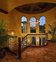 Patterned carpet design at the Rotunda.