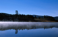 """Martis Creek Lake""- Photographed facing southeast in the early morning at Martis Creek Lake, CA, wich is located in the Martis Valley. Photographed: October 2003"