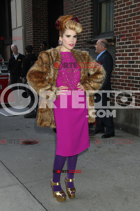 NEW YORK, NY - DECEMBER 3: Paloma Faith arriving to the Ed Sullivan Theater for an appearance on Late Show with David Letterman in New York City. December 3, 2012. Credit: RW/MediaPunch Inc. /NortePhoto ©/NortePhoto /NortePhoto© /NortePhoto /NortePhoto