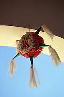 Traditional Mexican star pinata in the Casa de la Cultura, Todos Santos , Baja California Sur , Mexico