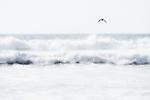 Sea waves at Legzira Beach, Atlantic coast, Morocco. High key fine art image.