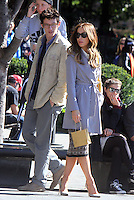 NEW YORK, NY - OCTOBER 10: Callum Turner, Kate Beckinsale on the set of the new film, The Only Living Boy on October 10, 2016 in New York City. Credit: RW/MediaPunch