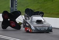 Jun 20, 2015; Bristol, TN, USA; NHRA funny car driver Terry Haddock during qualifying for the Thunder Valley Nationals at Bristol Dragway. Mandatory Credit: Mark J. Rebilas-