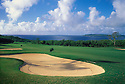 Laolao Bay Golf Resort sandtrap at 5th hole of East Course; Saipan, Northern Marianas Islands, Micronesia..