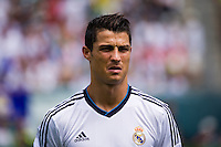 Cristiano Ronaldo (7) of Real Madrid. Real Madrid defeated Celtic F. C. 2-0 during a 2012 Herbalife World Football Challenge match at Lincoln Financial Field in Philadelphia, PA, on August 11, 2012.