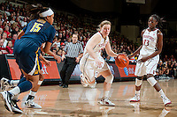 STANFORD, CA-JANUARY 28, 2011: Lindy La Rocque  drives the lane during a 74-71 overtime win over the Cal Bears.