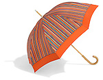 orange striped umbrella by pierre vaux umbrella