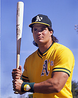 Oakland Athletic slugger Jose Canseco. (1989 photo by Ron Riesterer)