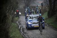 Dwars Door Vlaanderen 2013.Mathew Hayman (AUS) leading the race