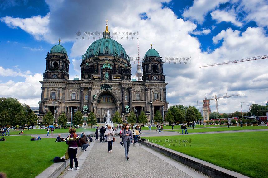 Berlino 14  Settembre 2013<br /> Il Duomo di Berlino.<br /> The Berlin Cathedral, a Protestant cathedral