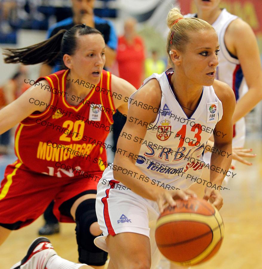 Milica Dabovic, Serbia - Montenegro, Crna Gora Eurobasket  Women Belgrade, Serbia, 30 June 2012. Belgrade, Serbia (credit: Pedja Milosavljevic/thepedja@gmail.com/+381641260959).