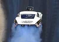 Jun 18, 2016; Bristol, TN, USA; NHRA pro mod driver Danny Rowe during qualifying for the Thunder Valley Nationals at Bristol Dragway. Mandatory Credit: Mark J. Rebilas-USA TODAY Sports