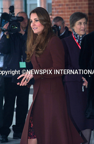 """CATHERINE, DUCHESS OF CAMBRIDGE .visits Havelock Academy in Grimsby, Lincolnshire _05/03/2013.It was a first visit to a programme run by the Prince's Trust by the Duchess who is 5 months pregnant..Mandatory credit photo:©Dias/NEWSPIX INTERNATIONAL..**ALL FEES PAYABLE TO: """"NEWSPIX INTERNATIONAL""""**..PHOTO CREDIT MANDATORY!!: NEWSPIX INTERNATIONAL(Failure to credit will incur a surcharge of 100% of reproduction fees)..IMMEDIATE CONFIRMATION OF USAGE REQUIRED:.Newspix International, 31 Chinnery Hill, Bishop's Stortford, ENGLAND CM23 3PS.Tel:+441279 324672  ; Fax: +441279656877.Mobile:  0777568 1153.e-mail: info@newspixinternational.co.uk"""