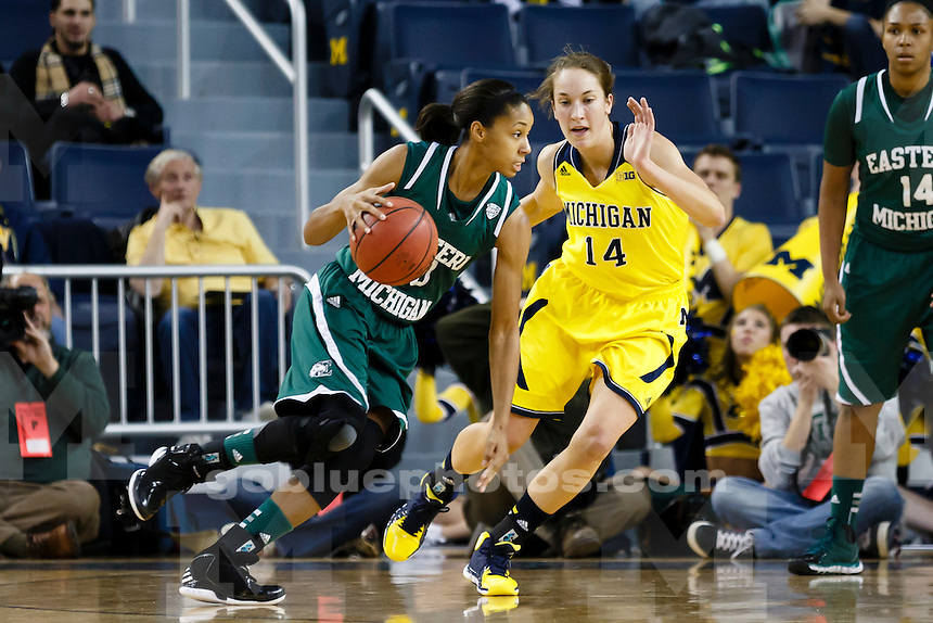 The University of Michigan women's basketball team played Eastern Michigan University on Dec. 11, 2013, at Crisler Center in Ann Arbor, Mich.
