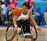 Equipe du Canada de basket en fauteuil roulant.Kendra Ohama.<br /> (Benoit Pelosse photographe)