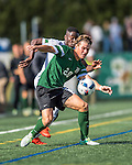24 September 2016: Dartmouth College Big Green Defender/Midfielder Tyler Dowse, a Junior from Senoia, GA, in action against the University of Vermont Catamounts at Virtue Field in Burlington, Vermont. The teams played to an overtime 1-1 tie in front of an Alumni Weekend crowd of 1,710 fans. Mandatory Credit: Ed Wolfstein Photo *** RAW (NEF) Image File Available ***