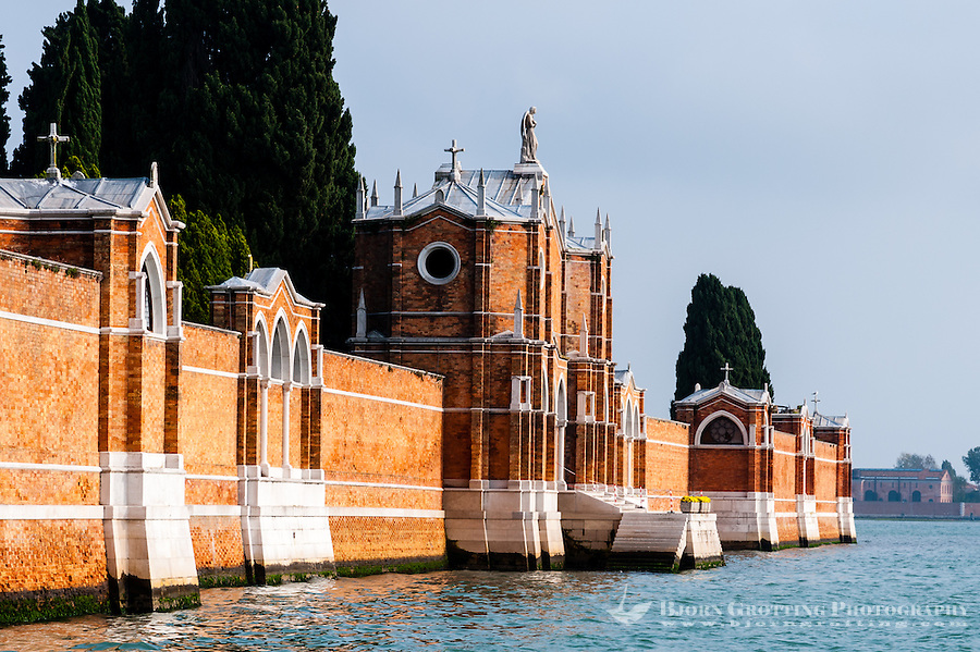 Italy, Venice. San Michele is an island used as cemetery.