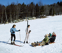 Skiing & toboggan in the Catskill Mountains - 1969