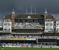 09/07/2002 - Tue.Sport - Cricket-  NatWest Series - Eng vs India Oval.India batting - ?A view from the boundary?  - The London Oval, with storm clouds gathering. From the Vauxhall end