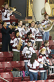 - The Harvard University Crimson defeated the Northeastern University Huskies 4-3 (SO) in the opening round of the Beanpot on Tuesday, February 8, 2011, at Conte Forum in Chestnut Hill, Massachusetts.