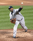 New York Yankees pitcher C.C. Sabathia (52) works in the first ining against the Baltimore Orioles at Oriole Park at Camden Yards in Baltimore, MD on Thursday, April 11, 2012.  .Credit: Ron Sachs / CNP.(RESTRICTION: NO New York or New Jersey Newspapers or newspapers within a 75 mile radius of New York City)
