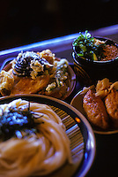 Close up of Japanese food at Oahu restaurant Jimbo's udon noodle house