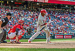 7 September 2014: Philadelphia Phillies right fielder Marlon Byrd in action against the Washington Nationals at Nationals Park in Washington, DC. The Phillies fell to the Nationals 3-2 in their final meeting of the season. Mandatory Credit: Ed Wolfstein Photo *** RAW (NEF) Image File Available ***