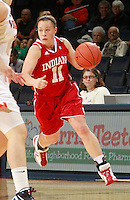 CHARLOTTESVILLE, VA- December 1: Andrea Newbauer #11 of the Indiana Hoosiers handles the ball during the game against the Virginia Cavaliers on December 1, 2011 at the John Paul Jones Arena in Charlottesville, Virginia. Virginia defeated Indiana 65-49. (Photo by Andrew Shurtleff/Getty Images) *** Local Caption *** Andrea Newbauer