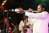 Lil Buck and the Top Cats perform at the Ponderosa Stomp in New Orleans on October 3, 2015.