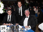 St Johnstone FC Scottish Cup Celebration Dinner at Perth Concert Hall...01.02.15<br /> Chris Kane, Alex Cleland and Tommy Campbell<br /> Picture by Graeme Hart.<br /> Copyright Perthshire Picture Agency<br /> Tel: 01738 623350  Mobile: 07990 594431