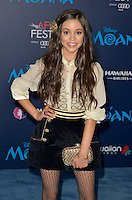 "HOLLYWOOD, CA - NOVEMBER 14: Jenna Ortega attends the AFI FEST 2016 Presented By Audi - Premiere Of Disney's ""Moana"" at the El Capitan Theatre in Hollywood, California on November 14, 2016. Credit: Koi Sojer/Snap'N U Photos/MediaPunch"