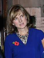 LONDON, ENGLAND - OCT 31: Fiona Bruce at the Sixth annual awards celebrating the efforts of local people fighting to saving heritage areas and historic sites under threat at Palace Theatre on October 31st, 2016 in London, England.<br /> CAP/JOR<br /> &copy;JOR/Capital Pictures /MediaPunch ***NORTH AND SOUTH AMERICA ONLY***
